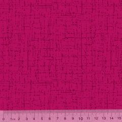 Tecido Tricoline Riscadinho Pátina - Rosa Pink - 100% Algodão - Largura 1,50m