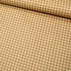 Tecido Tricoline Xadrezinho Multi - Bege - 100% Algodão - Largura 1,50m