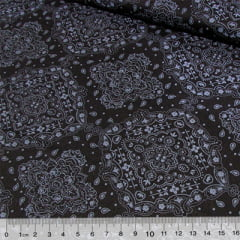 Tecido Tricoline Bandana - All Black - 100% Algodão - Largura 1,50m