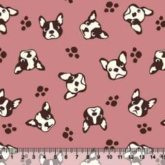 Tecido Tricoline Bulldog Pet - 100% Algodão - Largura 1,50m