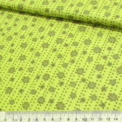 Tecido Tricoline Floral Lisca - Verde