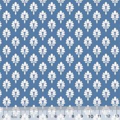 Tecido Tricoline Garden Unity - Brasão - Azul Antigo (Largura: 1,50 m)