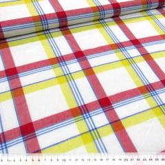 Tecido Tricoline Light - Xadrez Madras (REF 004) - 100% Algodão - Largura 1,50m
