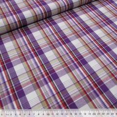 Tecido Tricoline Light - Xadrez Madras (REF 006) - 100% Algodão - Largura 1,50m