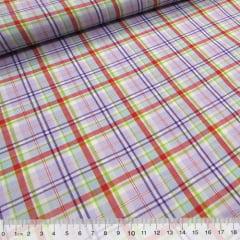 Tecido Tricoline Light - Xadrez Madras (REF 009) - 100% Algodão - Largura 1,50m