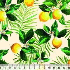 Tecido Tricoline Limão Siciliano - 100% Algodão - Largura 1,50m