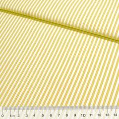 Tecido Tricoline Fio-Tinto Listras M - Amarelo - 100% Algodão - Largura 1,50m
