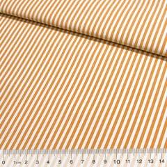 Tecido Tricoline Fio-Tinto Listras M - Laranja - 100% Algodão - Largura 1,50m