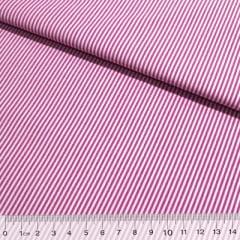 Tecido Tricoline Fio-Tinto Listras P - Rosa Pink - 100% Algodão - Largura 1,50m