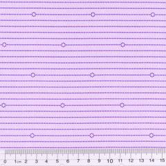 Tecido Tricoline Mista Barreira - Lilás - 90% Algodão 10% Poliéster - Largura 1,50m