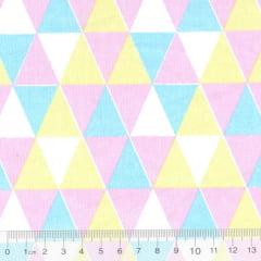 Tricoline Mista Geométricos - Tutti Fruti - 90% Algodão 10% Poliéster - Largura 1,50m