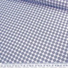 Tecido Tricoline Mista Pop Textoleen Formas Circulares - Azul - 50% Algodão 50% Poliéster - Largura 1,38m