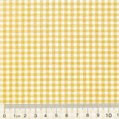 Tecido Tricoline Mista Pop Textoleen Xadrez Amarelo - 50% Algodão 50% Poliéster - Largura 1,38m