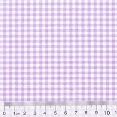 Tecido Tricoline Mista Pop Textoleen Xadrez - Lilás - 50% Algodão 50% Poliéster - Largura 1,38m