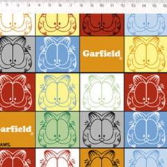 Tecido Tricoline Personagens F. Maluhy - Garfield Colors - 100% Algodão - Largura 1,50m