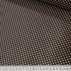 Tecido Tricoline Poá Manchado - Marrom Escuro - 100% Algodão - Largura 1,50m