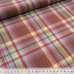 Tecido Tricoline Light - Xadrez Madras (REF 020) - 100% Algodão - Largura 1,50m