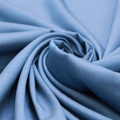 Tecido Tencel - Viscose c/ Elastano - Azul Pérola Jeans - 65% Viscose 32% Poliéster 3% Elastano - Largura 1,50m
