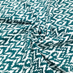 Tecido Viscose Light Estampada - Abstrato Verde - Ref 06 - 100% Viscose - Largura 1,40m
