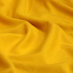 Tecido Viscose Lisa Lual - Amarelo Ouro - 100% Viscose - Largura 1,45m