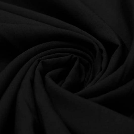 Tecido Viscose Lisa Lual - Preto - 100% Viscose - Largura 1,45m
