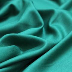 Tecido Viscose Lisa Lual - Verde Esmeralda - 100% Viscose - Largura 1,45m