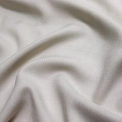 Tecido Viscose Lisa Sarjada Premium - Bege - 100% Viscose - Largura 1,45m