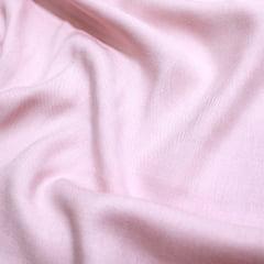 Tecido Viscose Lisa Sarjada Premium - Rosa Claro - 100% Viscose - Largura 1,45m