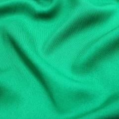 Tecido Viscose Lisa Sarjada Premium - Verde - 100% Viscose - Largura 1,45m