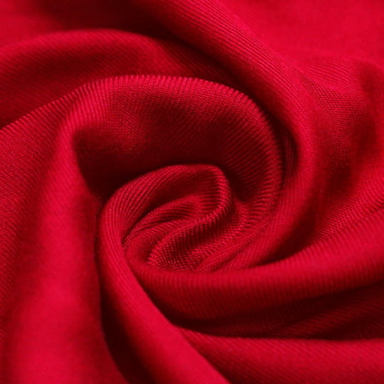 Tecido Viscose Lisa Sarjada Premium - Vermelho Grenadine - 100% Viscose - Largura 1,45m