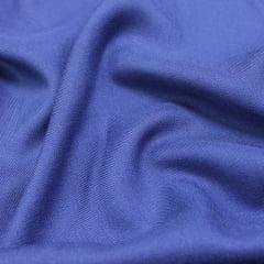 Tecido Viscose Lisa Sarjada Premium - Azul Estrela - 100% Viscose - Largura 1,45m