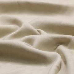 Tecido Viscose Lisa Sarjada Premium - Bege Claro - 100% Viscose - Largura 1,45m