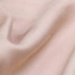 Tecido Viscose Lisa Sarjada Premium - Bege Médio - 100% Viscose - Largura 1,45m
