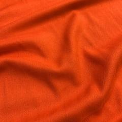 Tecido Viscose Lisa Sarjada Premium - Laranja - 100% Viscose - Largura 1,45m