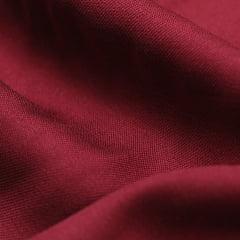 Tecido Viscose Lisa Sarjada Premium - Merlot - 100% Viscose - Largura 1,45m