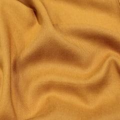 Tecido Viscose Lisa Sarjada Premium - Mostarda - 100% Viscose - Largura 1,45m