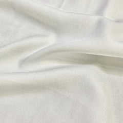 Tecido Viscose Lisa Sarjada Premium - Off White - 100% Viscose - Largura 1,45m