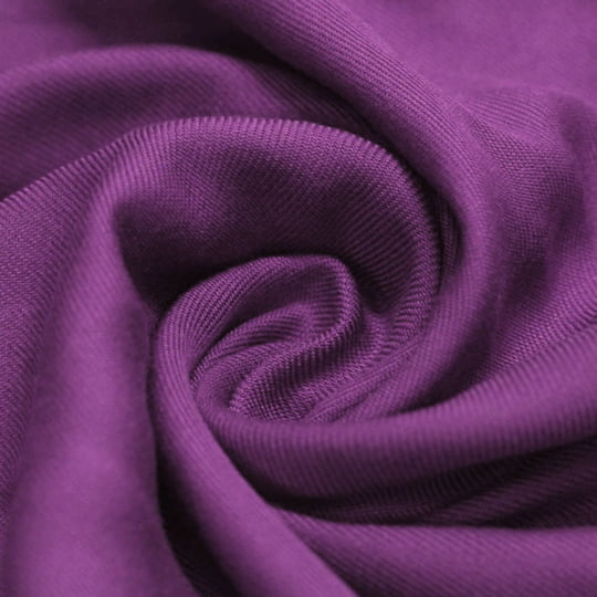 Tecido Viscose Lisa Sarjada Premium - Purple Orchid - 100% Viscose - Largura 1,45m