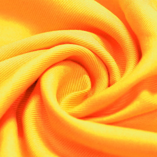 Tecido Viscose Lisa Sarjada Premium - Radiant Yellow - 100% Viscose - Largura 1,45m