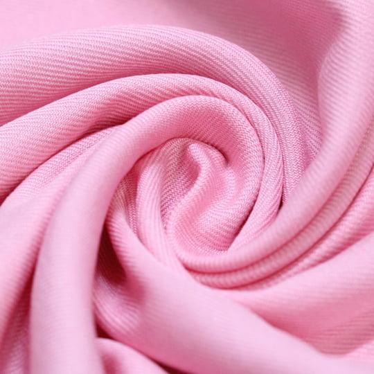 Tecido Viscose Lisa Sarjada Premium - Rosa Giz - 100% Viscose - Largura 1,45m
