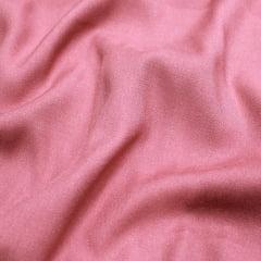 Tecido Viscose Lisa Sarjada Premium - Rosa Pêssego Escuro - 100% Viscose - Largura 1,45m