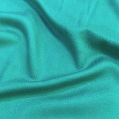Tecido Viscose Lisa Sarjada Premium - Verde Mar - 100% Viscose - Largura 1,45m