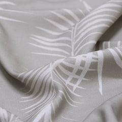 Tecido Viscose Premium Estampada - Folhas Fendi - 100% Viscose - Largura 1,50m
