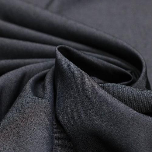 Tecido Tencel - Viscose c/ Elastano - Preto Jeans - 65% Viscose 32% Poliéster 3% Elastano - Largura 1,50m