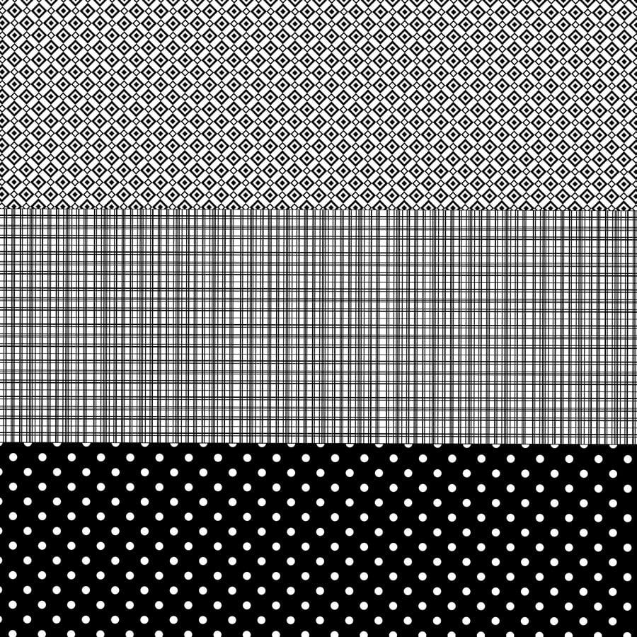 Tecido Tricoline Barrado Work Geo. - Preto - 100% Algodão - Largura 1,50m