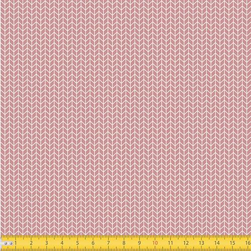 Tecido Tricoline Coleção Arrow - Rosa Chá - 100% Algodão - Largura: 1,50m