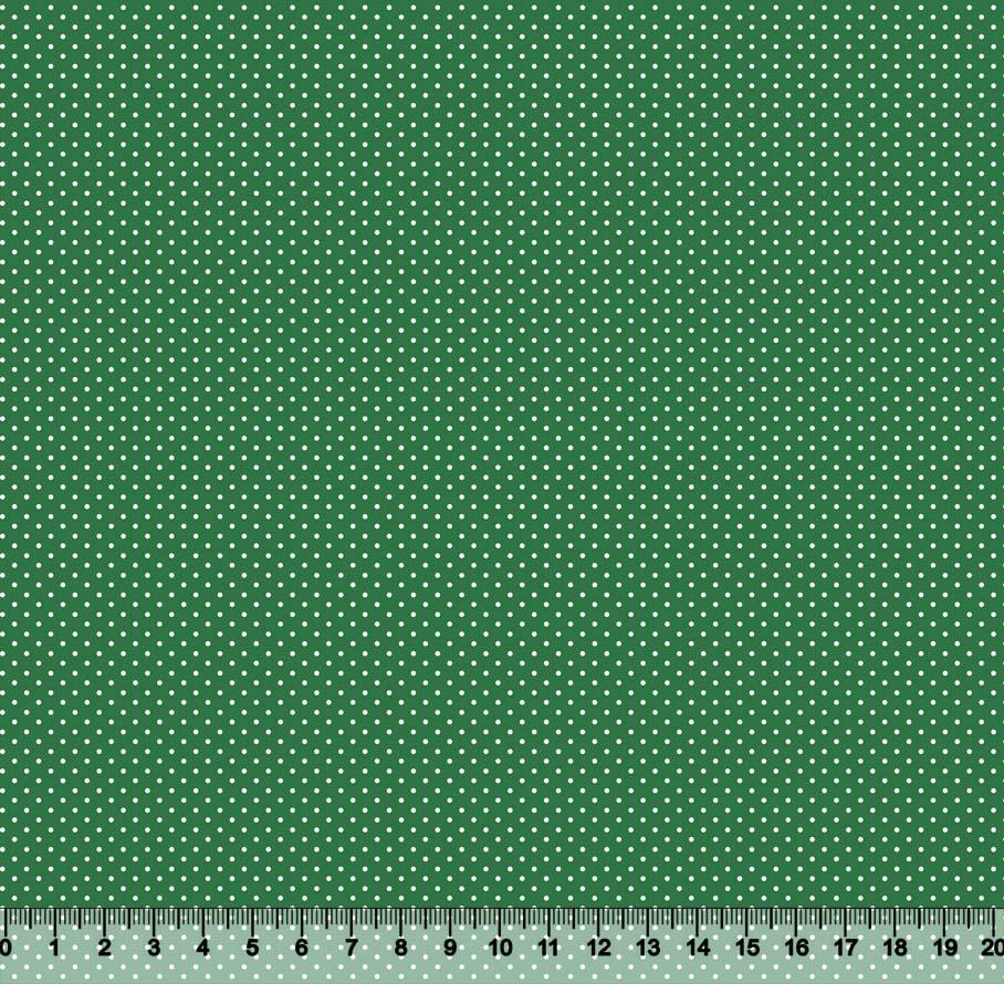 Tecido Tricoline Coleção Composê Ideal Esmeralda - Poazinho - 100% Algodão - Largura 1,50m