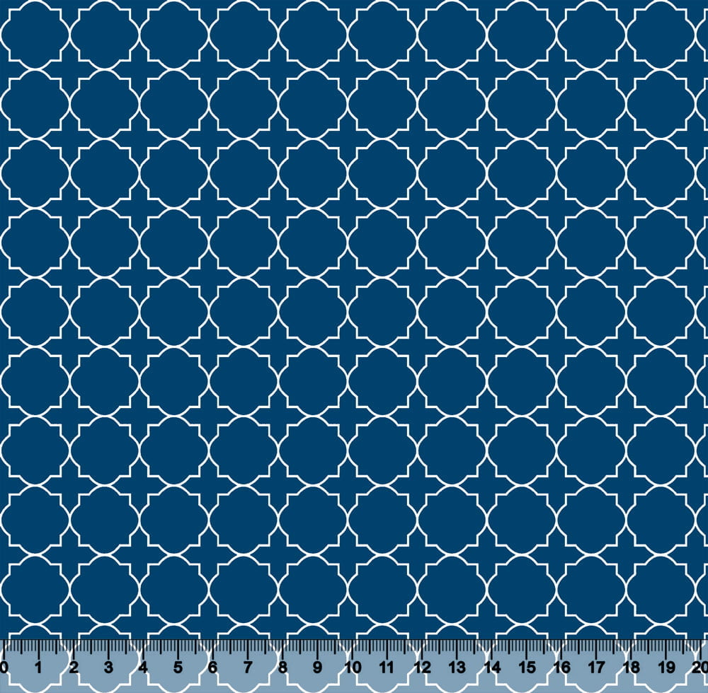 Tecido Tricoline Coleção Composê Ideal Lapis Blue - Mural - 100% Algodão - Largura 1,50m