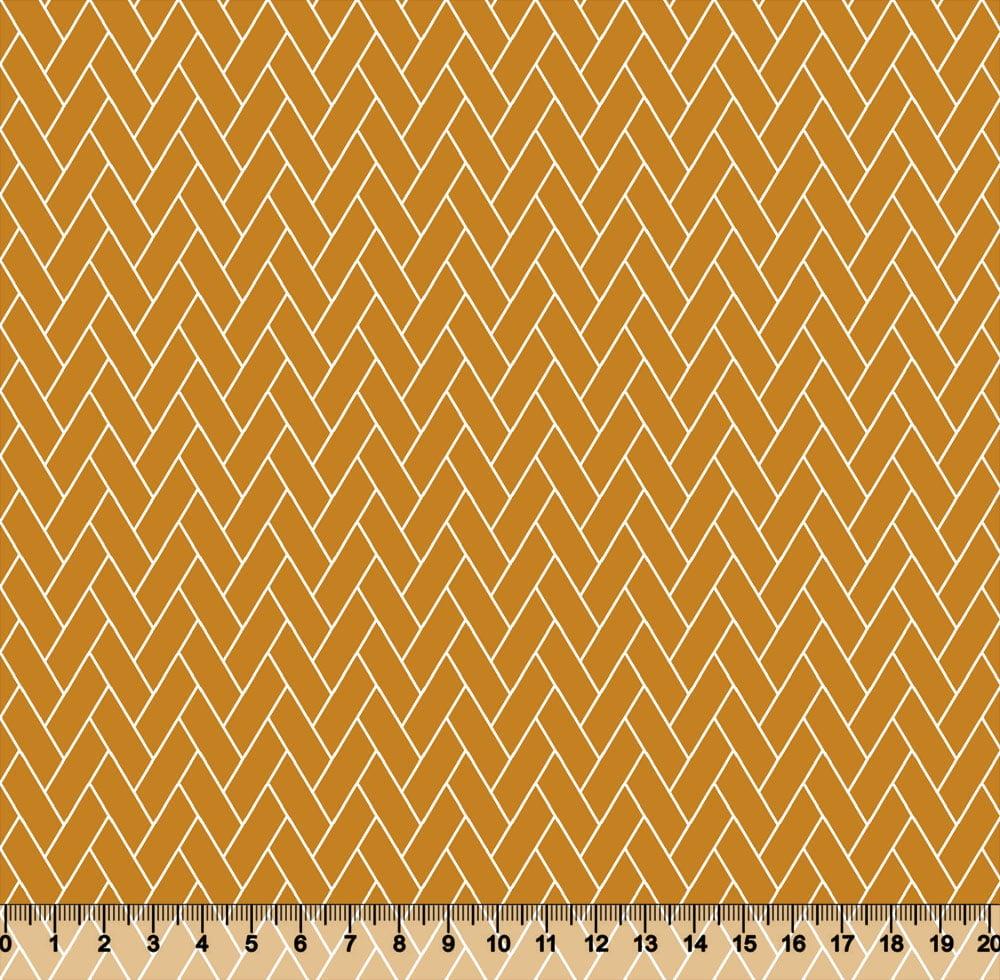 Tecido Tricoline Coleção Composê Ideal Outono - Tijolinhos - 100% Algodão - Largura 1,50m