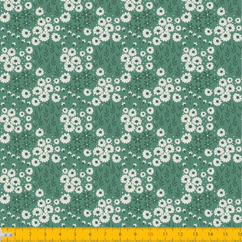 Tecido Tricoline Coleção Jardim Bahamas - Verde Antigo - 100% Algodão - Largura: 1,50m